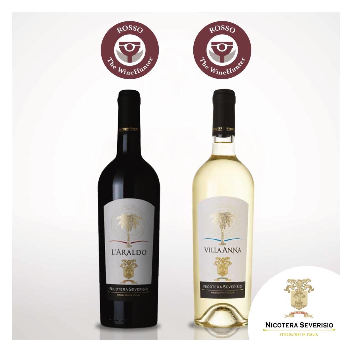 The Wine Hunter 2017. La cantina Nicotera Severisio raddoppia con due premi per L'Araldo e il Villa Anna