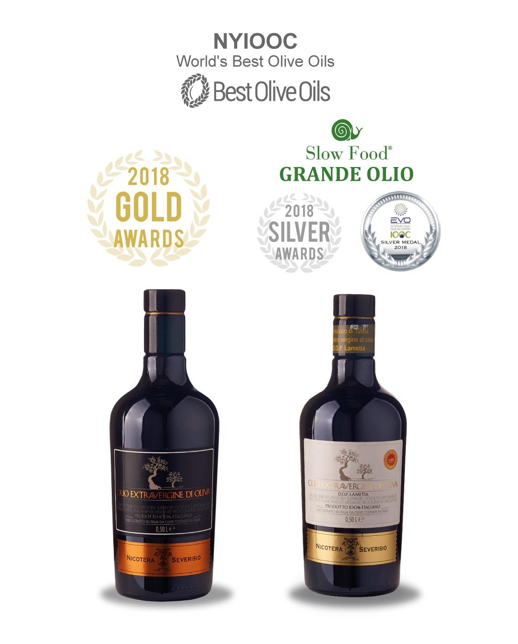 L'olio Nicotera Severisio è internazionale: oro e argento al The World Best Olive Oils